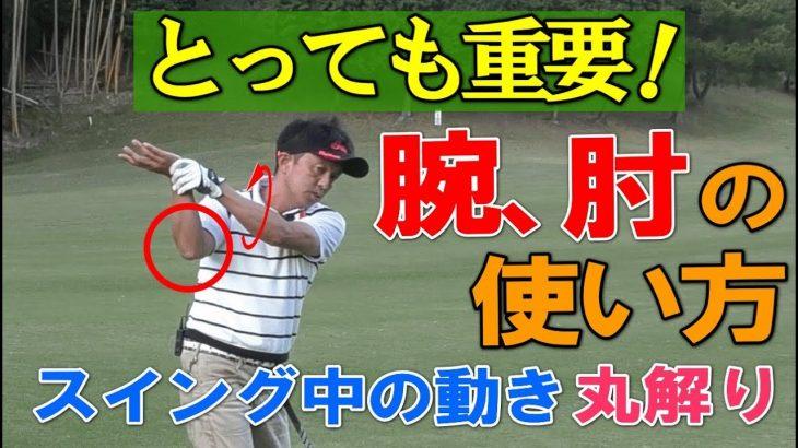 ゴルフスイングの手、腕、肘の使い方、動かし方、コッキング等をスギプロがレッスンします。
